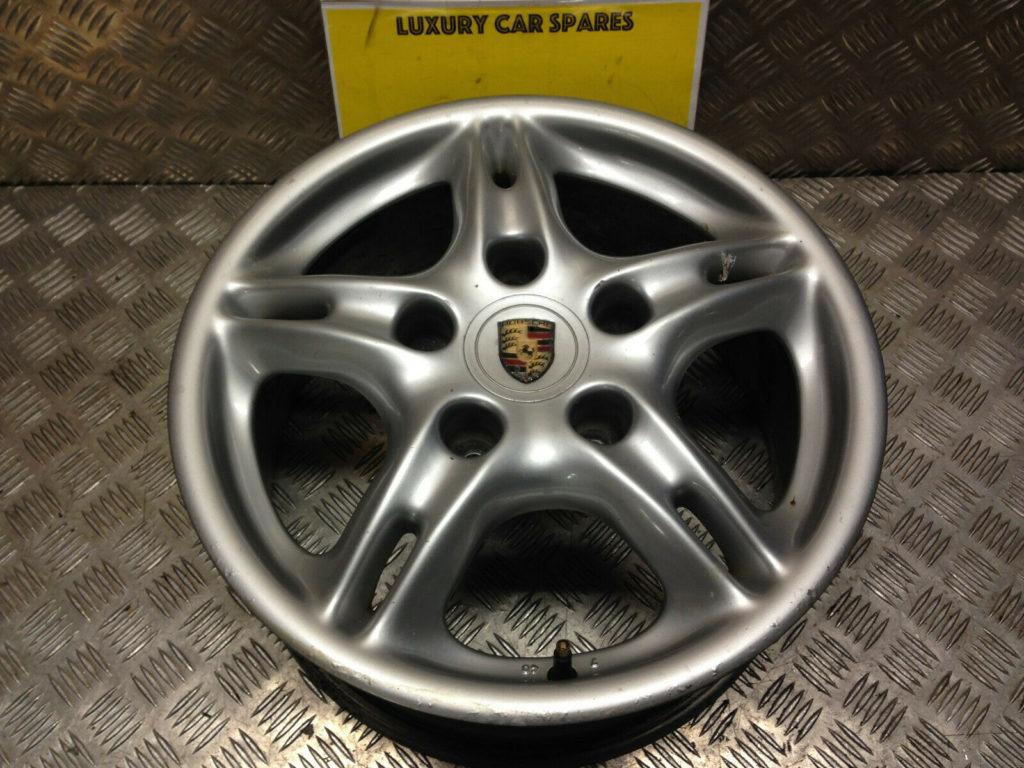 Porsche 986 Boxster Alloy Wheel ET50 7J x 16 99636211400 Rear (Location 409)